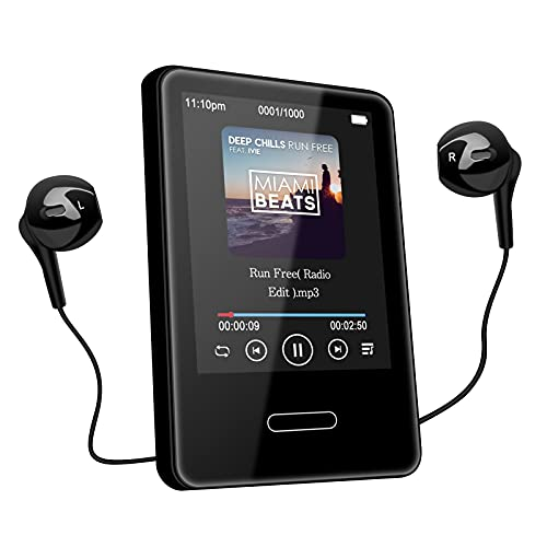 MP3 Music Player with Bluetooth: 16GB Portable Touchscreen MP3 Player Lossless Sound Hi-Fi Music Player for Walking Running with FM Radio - Expandable Max up to 128G