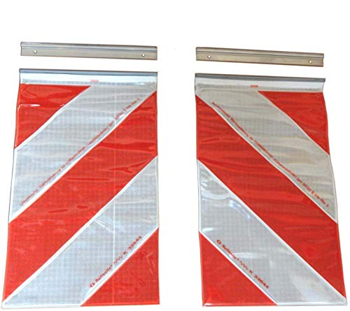 Trupa ORAFOL 2X Warnflagge 250 x 400 mm Ladebordwand Hebebühne Markierung Links+rechts