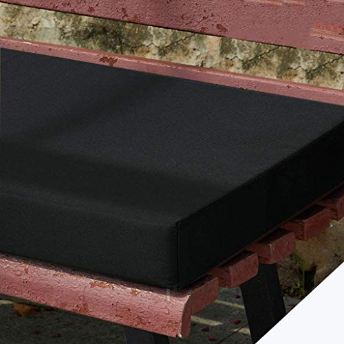 N / A Exterior Interior Solid Color Cushions for Bench Lounge, Thicken Garden Bench Cushion, Removable Anti Slip Cushion Seats, Sponge Seat Cushion for Patio Porch