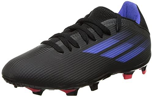 Adidas Unisex Mesh X Flow.3 Fg J Cblack/Sonink/Syello Football Shoes - 5 UK