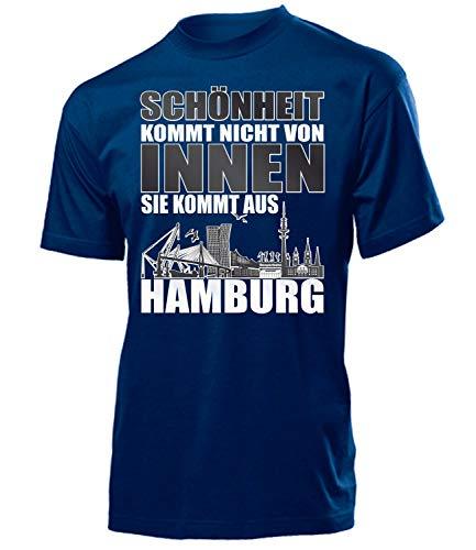 love-all-my-shirts Hamburg Fussball Motive zum auswählen Fanshirt Fan Artikel Männer Herren Tshirt Kapuzen Pullover Hoodie Pulli Tasse Kaffee Becher, T-shirt Navy Schönheit, XL