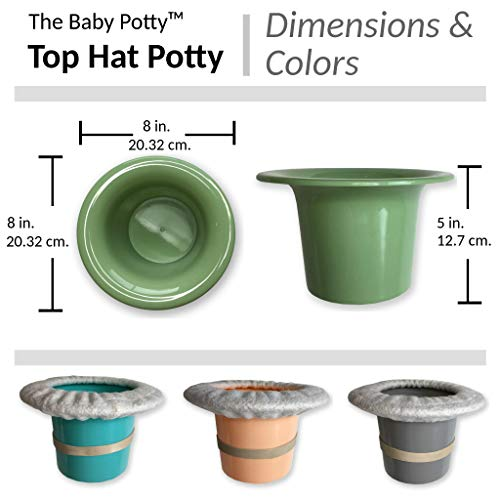 Includes 100/% Cotton Undyed Fleece Cozy Anti-Slip Rubber Band Turquoise for EC Baby Potty Training Top Hat Potty for Newborn Infant Potty Training Elimination Communication