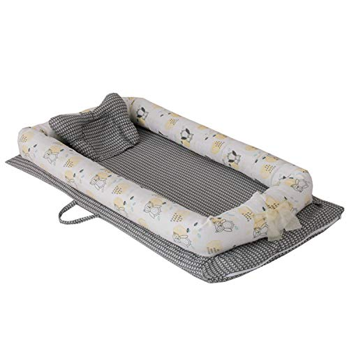 Buy Abreeze Baby Bassinet for Bed -Owl Baby Lounger - Breathable & Hypoallergenic Co-Sleeping Baby B...
