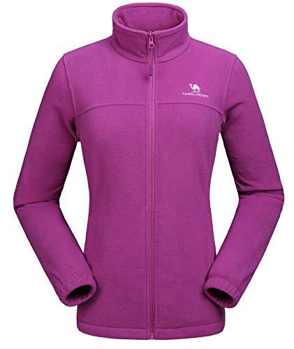CAMEL CROWN Women Full Zip Fleece Jackets with...