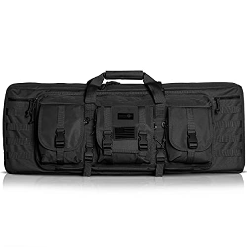 Double Rifle Bag | 2 Rifles + 2 Pistols Tuckable Backpack...
