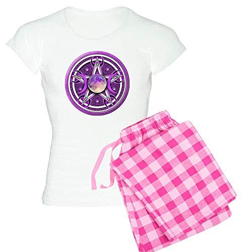 CafePress Purple Triple Goddess Penta Women's Light Pajamas Womens Novelty Cotton Pajama Set, Comfortable PJ Sleepwear