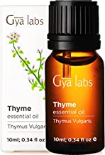 Gya Labs Thyme Essential Oil for Sinus Relief and Sleep - Topical for Pain Relief - Diffuse for Congestion Relief, Boost Body's Defenses - 100 Pure Therapeutic Grade Thyme Oil for Aromatherapy - 10ml