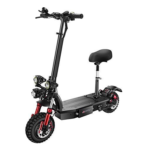 SONGZO Scooters Eléctricos para Adultos 4400 W Motor Velocidad Máxima 75 km/h 11 Pulgadas Neumático de Vacío Todoterreno Freno de Disco Doble Scooter Plegable con Batería de Litio de 60 V 26 AH