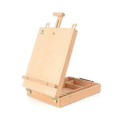 NYDZDM Desktop Easel Houten Olieverfdoos Toolbox Schets Koffer Beuken Hout Art Easel