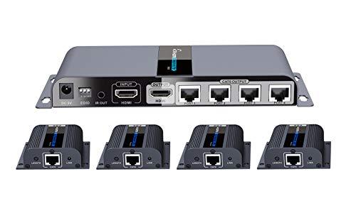 PremiumCord - Splitter HDMI 1-4 + extender su CAT6 / 6a / 7, Full HD, 3D