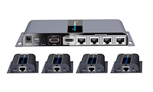 PremiumCord - Splitter HDMI 1-4 + extender su CAT6 / 6a / 7, Full HD, 3D