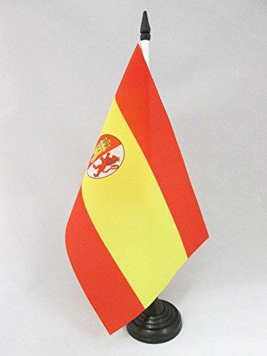 AZ FLAG Bandera de Mesa de ESPAÑA del Bando SUBLEVADO 1936-1938 21x14cm - BANDERINA de DESPACHO Guerra Civil ESPAÑOLA 14 x 21 cm