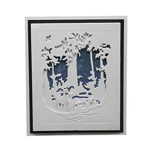 periwinkLuQ Weihnachten Stanzschablone Scrapbooking Stanzbögen Stanzmaschine Stanzformen für Kartenbasteln, Journaling Silber