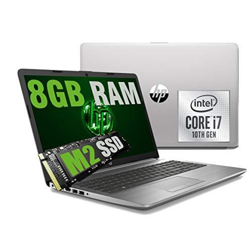 Notebook HP i7 250 G7 Silver Portatile Full HD 15.6  Cpu Intel Quad core i7-1065G7 10Th Gen 3,9Ghz  Ram 8Gb DDR4  SSD M2 256GB  graphic Intel Iris Plus  Hdmi Dvd RJ-45 Wifi Bluetooth  Windows 10 64Bit