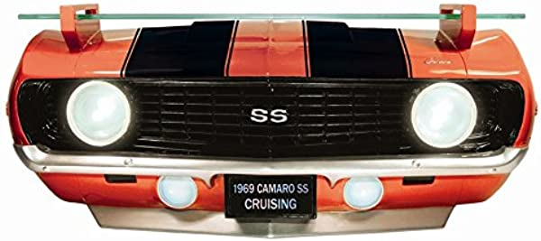 Chevrolet 1969 Camaro SS Red Front End Wall Shelf Working Lights