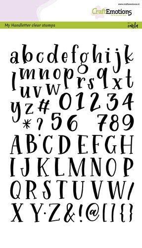 CraftEmotions Clear Stamps A5 – Handbuchstaben – Alphabet Schreibmaschine Carla Kamphuis (02–20)