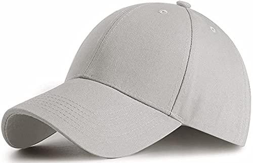 Etyepoh Unisex Kappe - Baseball Cap für Herren und Damen, Verstellbar Reine Farbe Baseboard Baseballkappe Mütze (A-hellgrau)