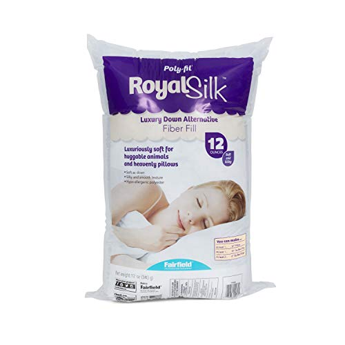 Fairfield PFRS12 Poly-Fil Royal Silk Fiber Fill Bag, 12 oz, White