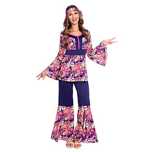 amscan 9907001 - Disfraz de chica hippy para mujer, talla 12-14, color rosa