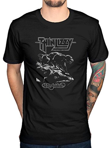 Official Thin Lizzy Nightlife T-Shirt Black