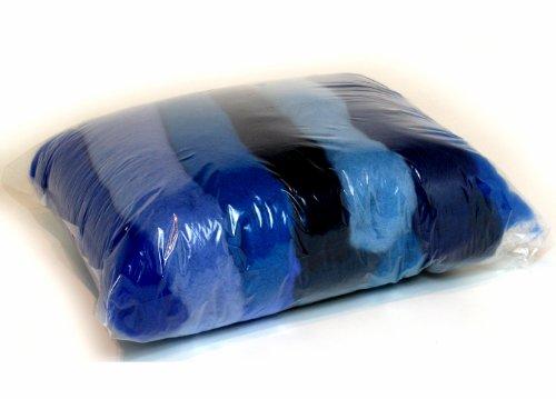 SIA COLLA-S L'ensemble de Nuances de la Laine pour Feutrage, Mix Couleurs Bleues, 11 Couleurs Différentes Minimum, 100g.