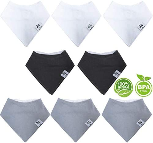 Bamboo Baby Bandana Bibs Hypoallergenic Ultra Soft Absorbent Baby Boy Bibs for Drooling and product image