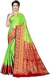Neerav Exports Banarasi Kanjivaram Silk With Rich Pallu Traditional Jacquard Saree (Green)