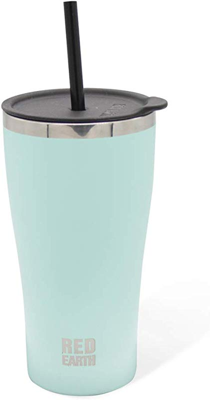 316 Stainless Steel Tumbler With Straw Lid 18oz Double Wall Vacuum Insulted Premium Coffee Cup Powder Coated Keep Your Drink Hot Or Cold Mint