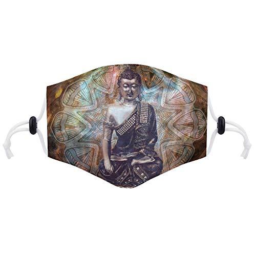 Maske (mit zwei Filtern) Buddha India Spirit Gebetskonzept Buddhistische Maske Unisex Anti-Dust Pollution Cycling Facial Protector