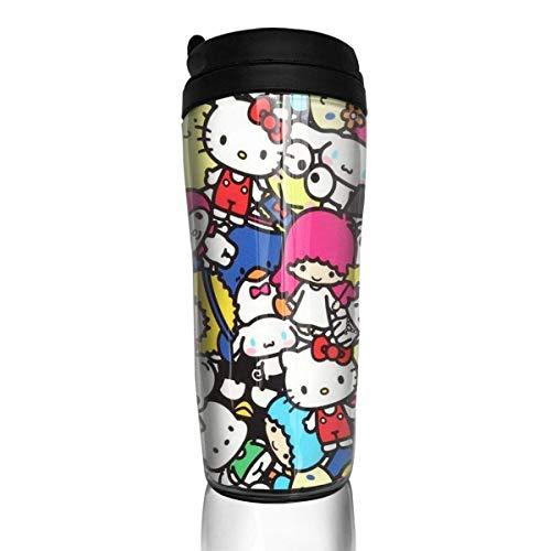 Red Hello Kitty Kaffeebecher Travel Mug Thermobecher Isolierbecher Doppelwandig Isolierung Kaffeetasse