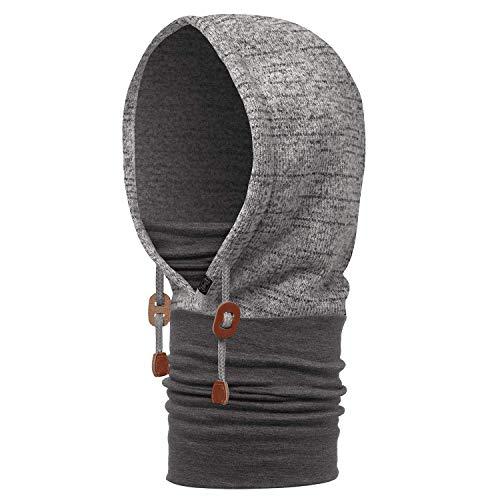 Buff Polar Thermal Hoodie Schlauchschal, Melange Grey, One Size