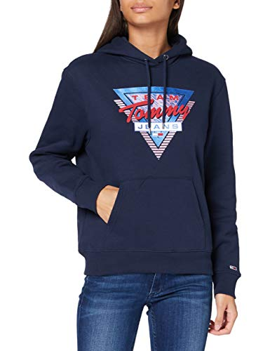 Tommy Jeans Tjw Modern Logo Hoodie Suéter, Marina Crepuscular, M para Mujer