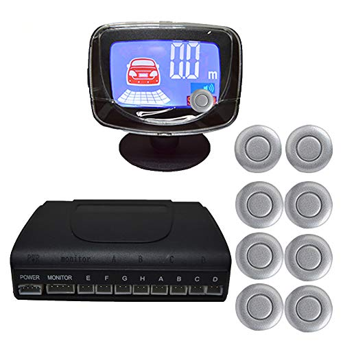 Lowest Prices! UTUT Radars Detector System Auto Car Backlight Display Parking Backup Sensor Radars Monitor Detector System Grey 8 Sensors