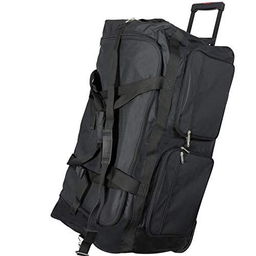 JEMIDI XXXL Riesen Reisetasche nur 3,6kg 180L Reisegepäck Sporttasche XL Schwarz mit Leichtlaufrollen