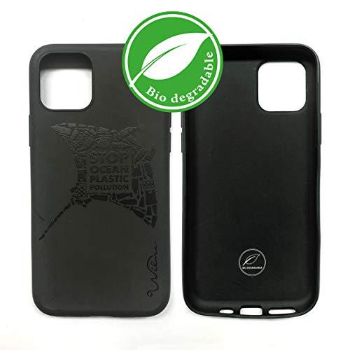 Wilma Umweltfreundliches, biologisch abbaubare Handy Schutzhülle Kompatibel mit iPhone 11 Pro, Stop Meeres Plastik Verschmutzung, Kunststoff-frei, abfallfrei, ungiftig, Vollschutz Hülle - Matt Manta