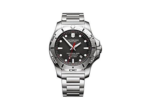 Victorinox INOX Herren Uhr analog Quarzwerk mit Edelstahl Armband V241781