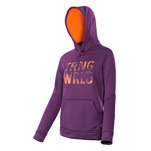 Trango Sweat-Shirt baltée – Sweat, Femme, Rouge (Bordeaux Clair/Orange)