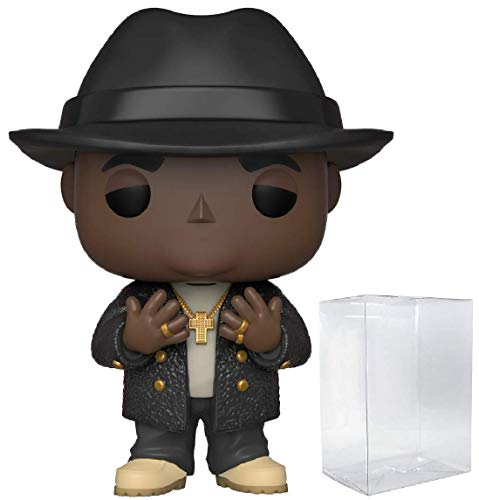 Funko Pop! Rocks: Biggie - Notorious B.I.G with Fedora Bundle with 1 PopShield Pop Box Protector