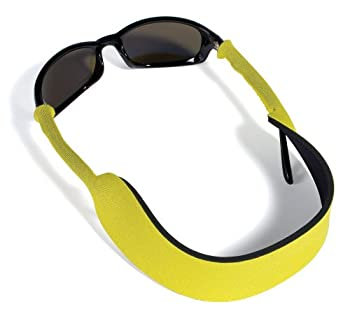 Croakies Floater Eyewear Retainer Yellow 17 x 1 and 3/4 Inch