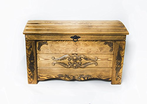 Massive Handgemachte Holzkiste Truhe Box Holz Aufbewahrung Antik Dekoration Wohnen Möbel Sitzbank Schuhschrank Kaffee Tisch WER1
