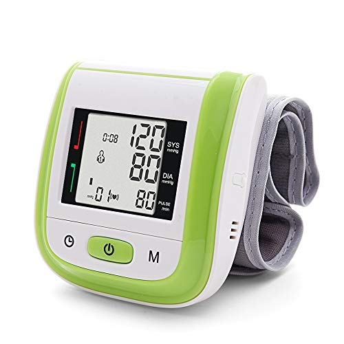 Yongrow Digital Wrist Blood Pressure Monitor - Automatic Blood Pressure Cuff Wrist with Irregular Heartbeat Monitor - Gift for Family 2 Users x 99 Memory Storage (Green)