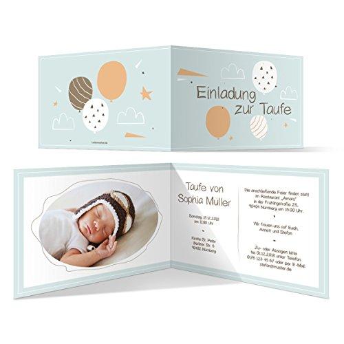 10 x Taufe Einladungskarten Taufkarte individuelle Taufeinladung - Kritzelhimmel