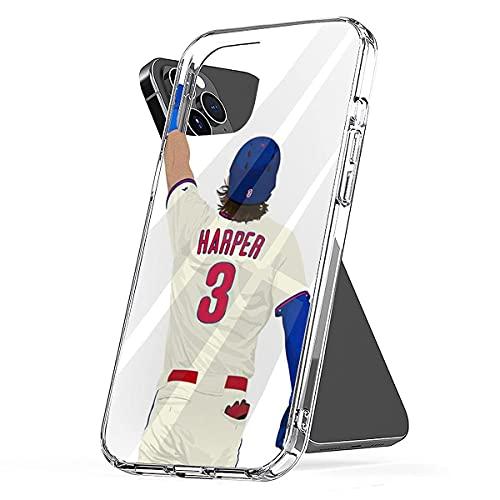 Carcasa de teléfono Personalizada Compatible con Bryce Samsung Harper iPhone 3 Xiaomi Redmi Note 10 Pro Note 9 8 9A Poco M3 Pro Poco X3 Pro Funda Protector Antideslizante Transparente Puro