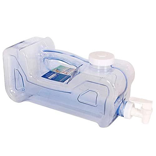 Dispensador de bebidas de plástico 3,8 litros con grifo y asa 15,5 x 12,5 x 37 cm, botella dispensadora agua para frigorífico, tanque, garrafa reutilizable con grifo para nevera