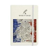 フランスの旗国の都市文化 ノートブッククラシックジャーナル日記A 5を書く