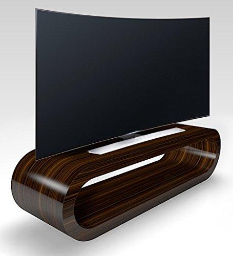 Cerceau de Style Rétro Grande Zebrano Haute Brillance Meuble TV/Armoire 110cm