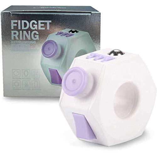 YOULIKE Fidget Toy Sensory Cube Toy, Cube Toy with Click Ball - Dekompression Ring Fidget Finger Spielzeug für ADD ADHS Stress Relief für Erwachsene und Jugendliche, Lila