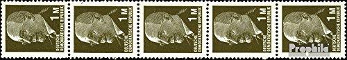 Prophila Collection DDR 1540R Fünferstreifen (kompl.Ausg.) 1967 Ulbricht (Briefmarken für Sammler)