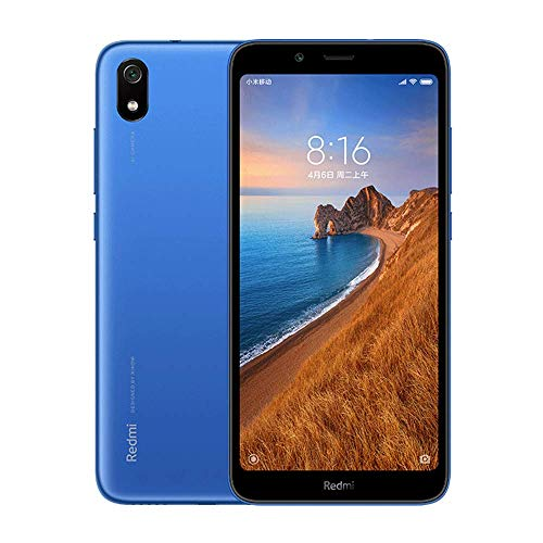 Xiaomi Redmi 7A Smartphone, RAM 2 RAM 16 GB Dual SIM double, 5.45 '' plein écran HD, processeur Qualcomm Snapdragon octa-core, Grandes polices, Appareil photo 13 MP + 5 MP (Bleu)