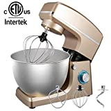 Stand Mixer, 8.5QT 660W 6-Speed Dough Mixer with Stainless Steel Bowl, Kitchen Electric Mixer with...